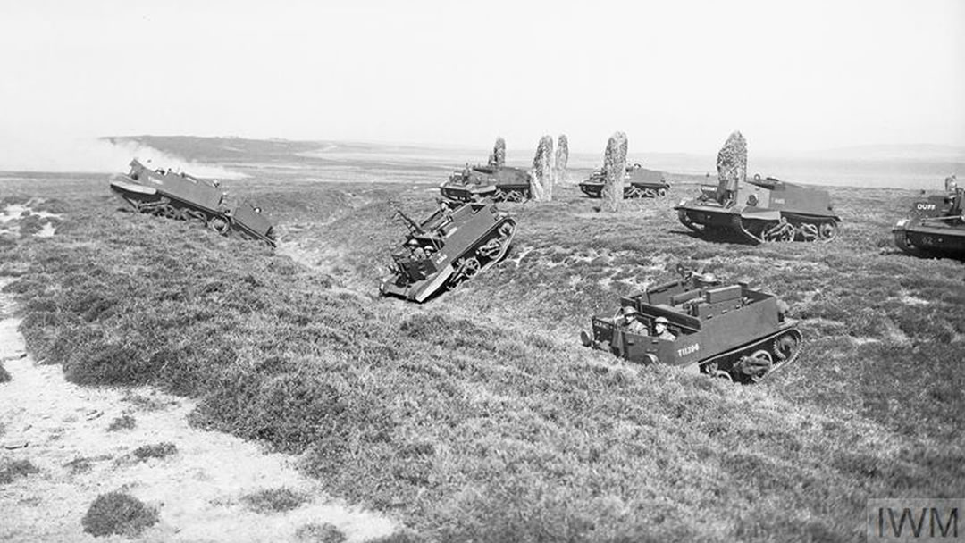 Bren gun carriers at the Ring of Brodgar