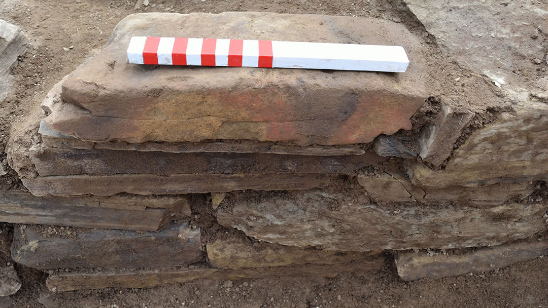 Painted stone at the Ness of Brodgar