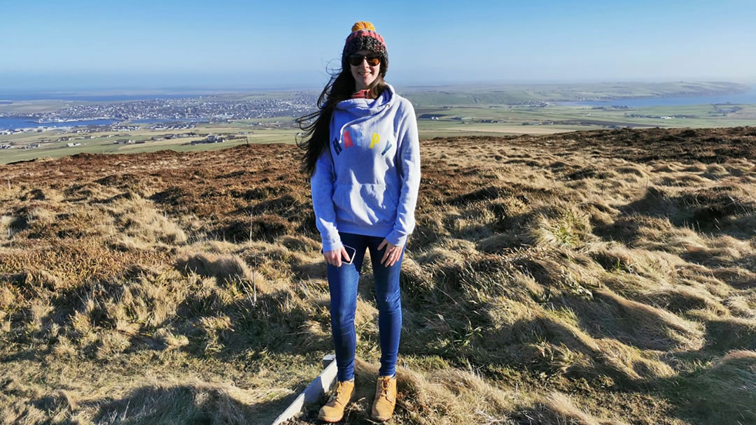 Shona on Wideford Hill