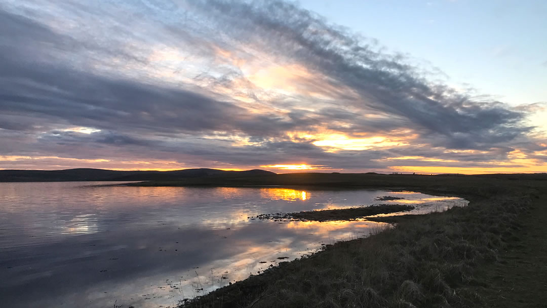 The loch of Stenness in Orkney