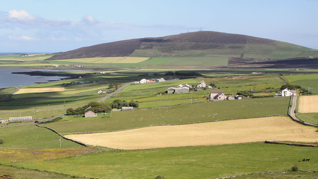 Wideford Hill from Firth in Orkney