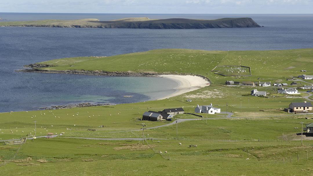Levenwick beach in Shetland