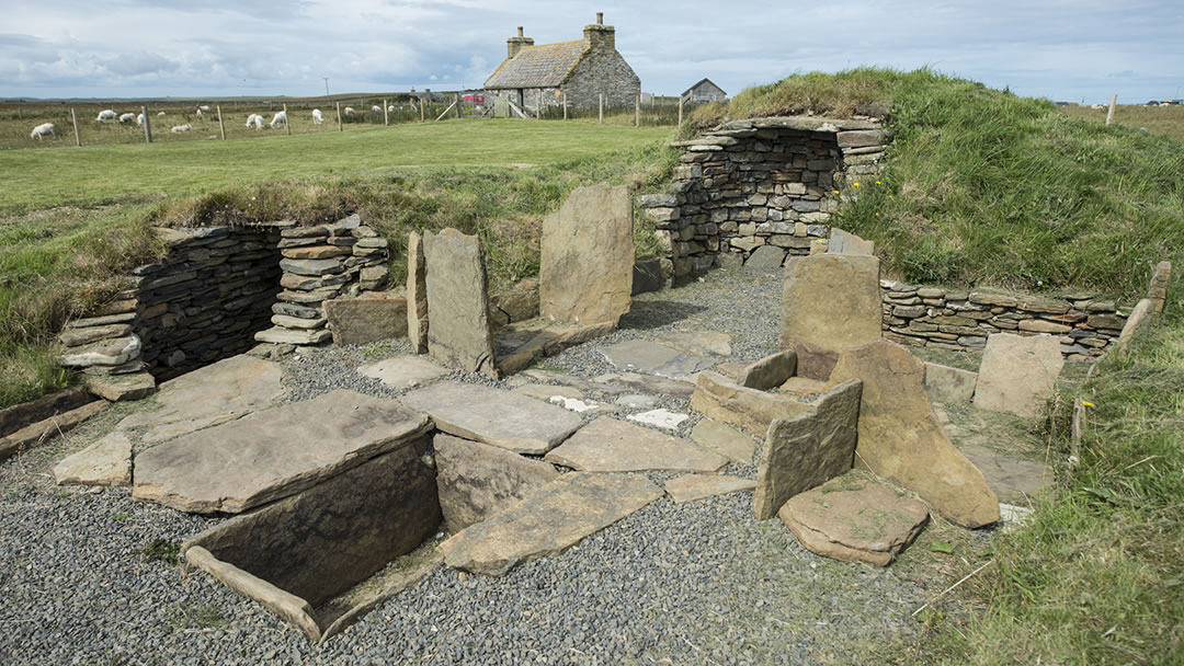 Meur burnt mound in Sanday, Orkney