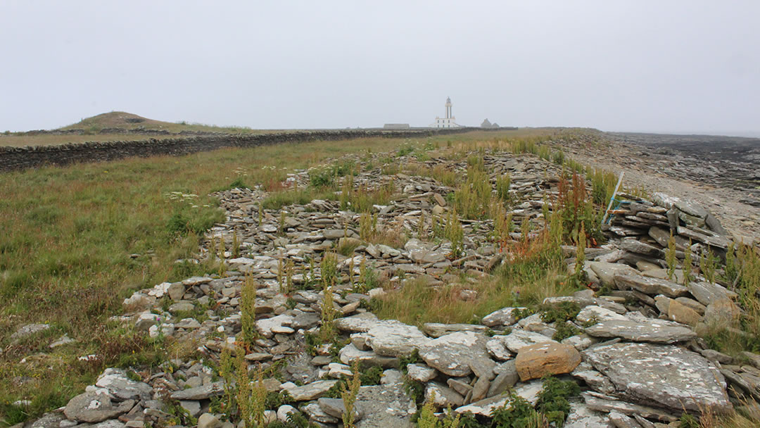 Mount Maesry and Start Point Lighthouse in Sanday, Orkney