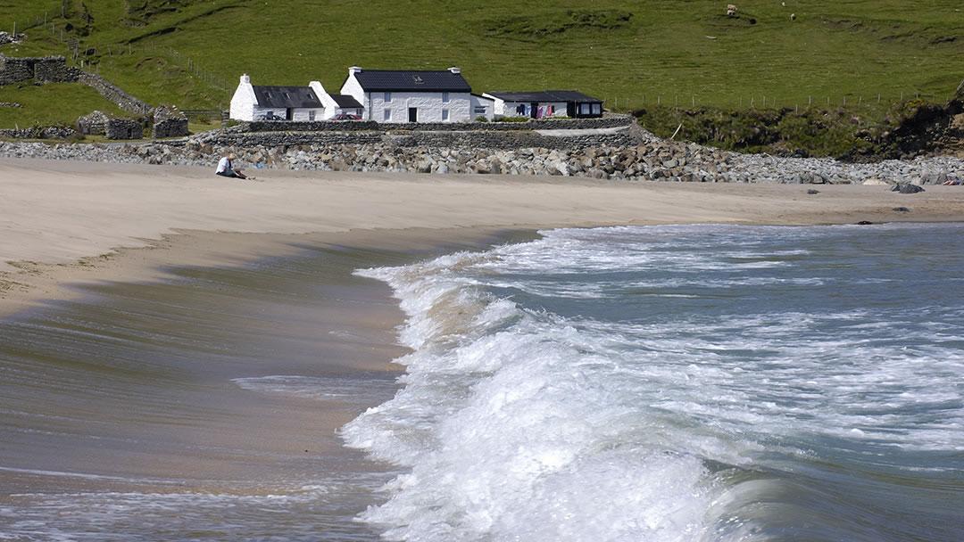 Norwick beach in Unst in Shetland