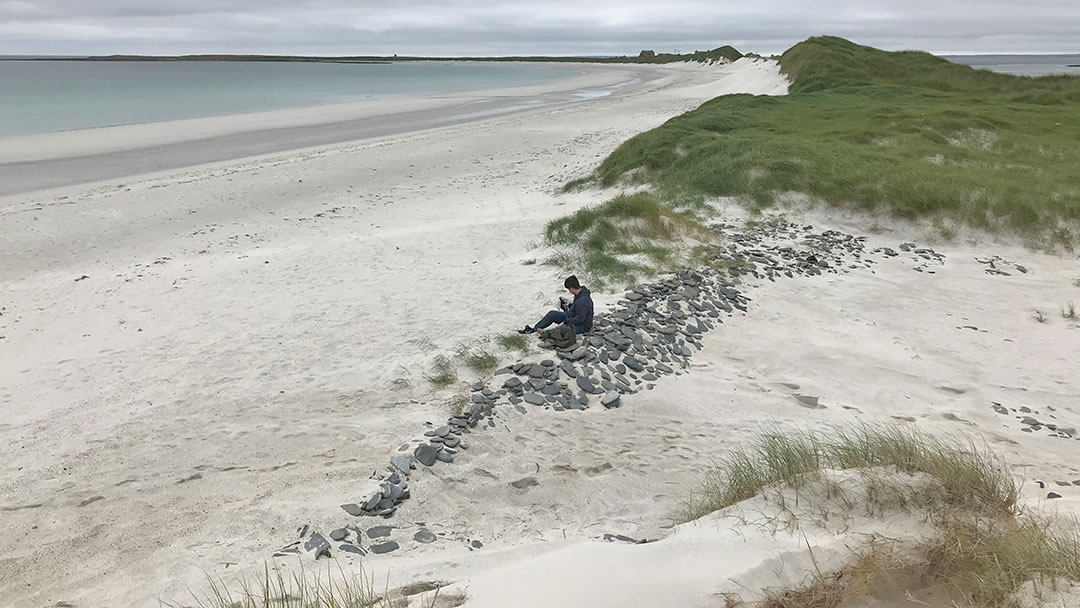 Sand dunes at Tresness in Sanday, Orkney