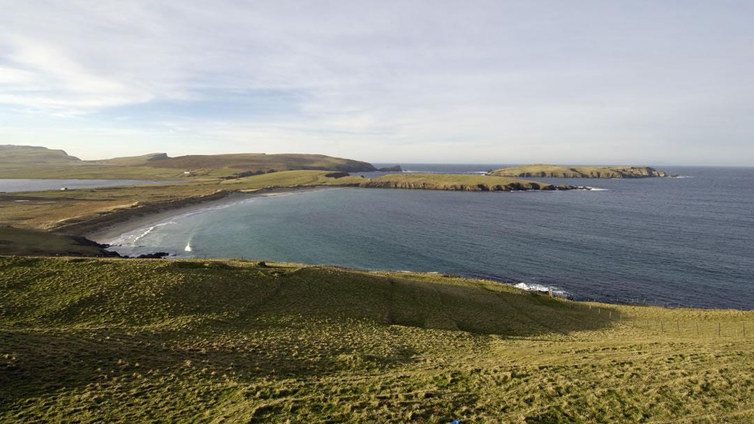 Scousburgh Sands in Shetland