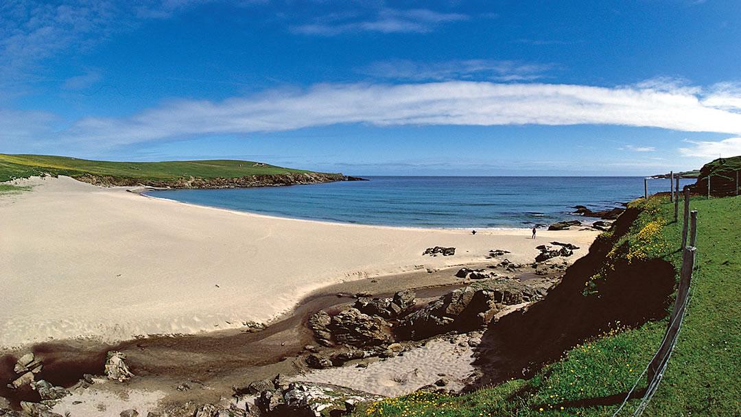 Skaw Beach in Shetland