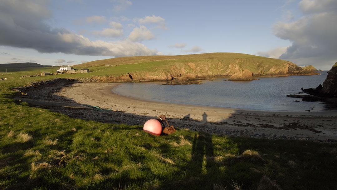 Spiggie Beach in the South West of Shetland
