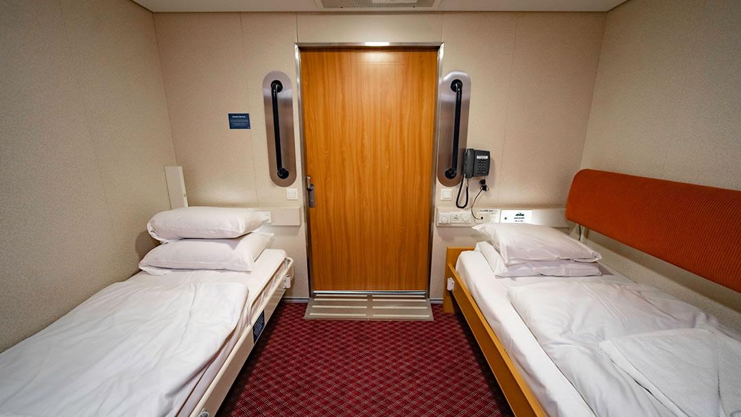 Accessible Inside cabin with Hoist (sleeps 3)