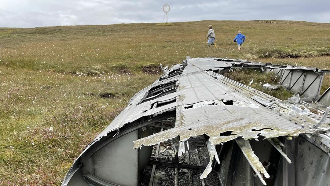 Catalina crash site in Yell, Shetland