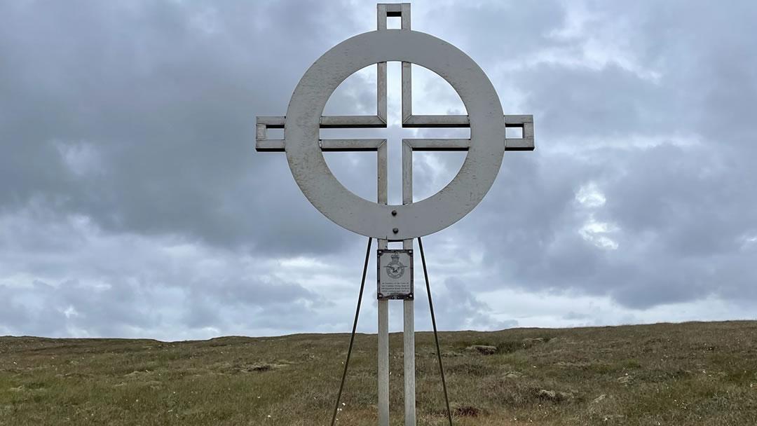 Catalina memorial in Yell, Shetland