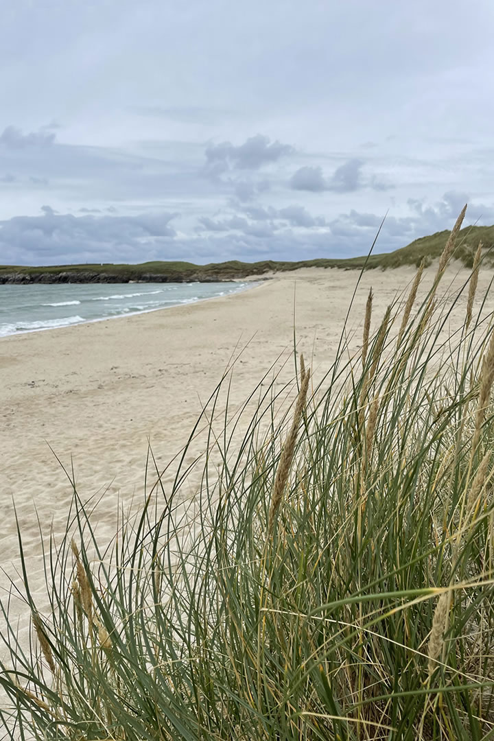 Sands of Breckon in the island of Yell in Shetland
