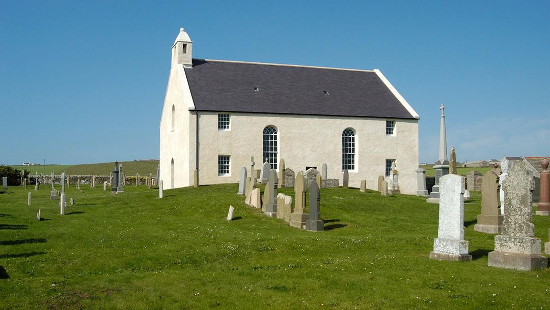 St Peter's Kirk, Sandwick exterior, Orkney