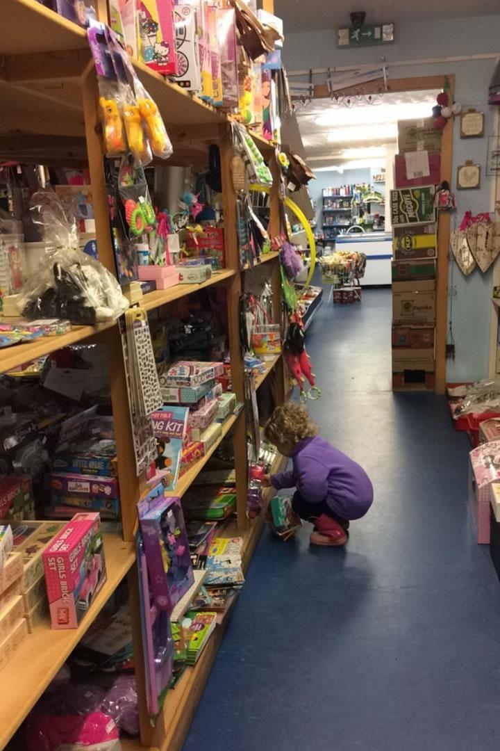The Aywick shop in Yell, Shetland