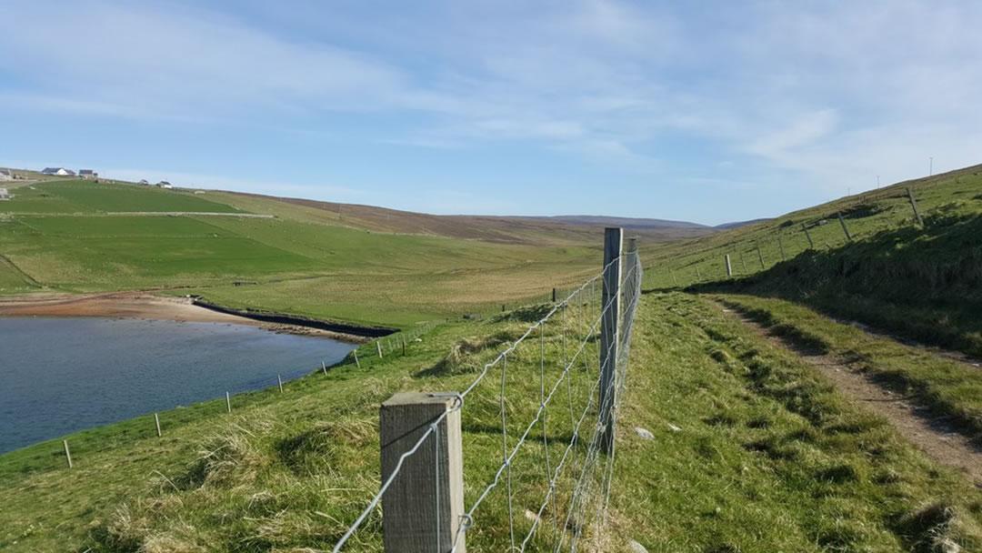 Trackway to Grommond, Herra from Grimister, Herra in Yell, Shetland