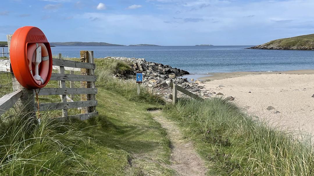 West Sandwick beach in Yell