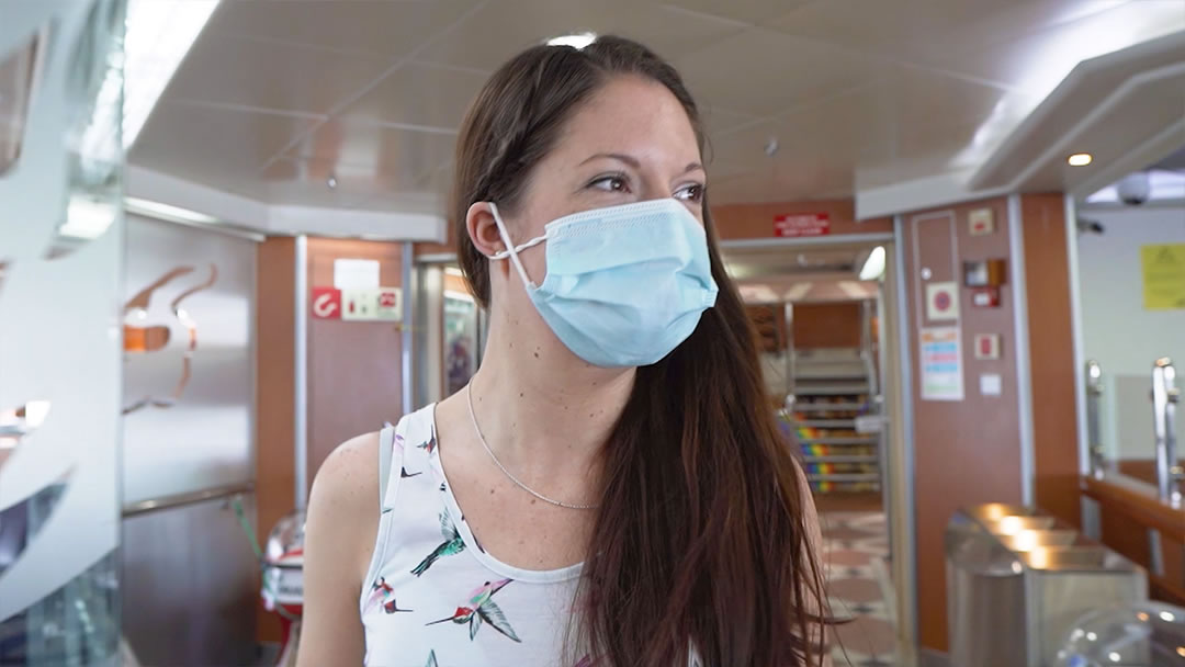 Wearing a facemask on board NorthLink ships