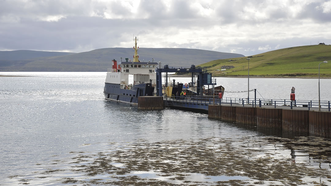 Ferry to Hoy and Flotta at Houton in Orphir, Orkney