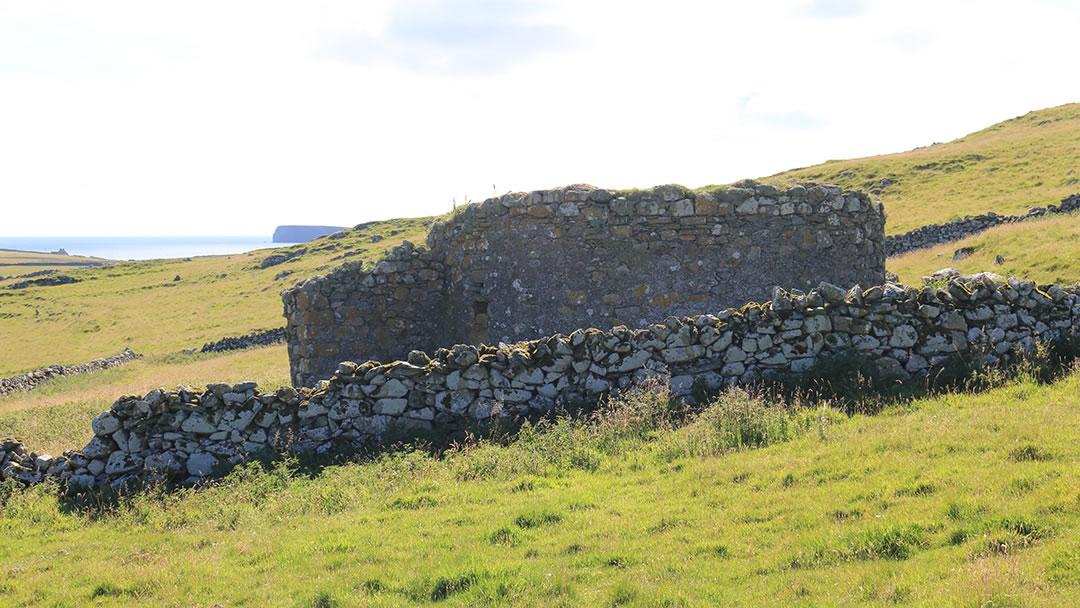 Gruting roundhouse in Fetlar, Shetland