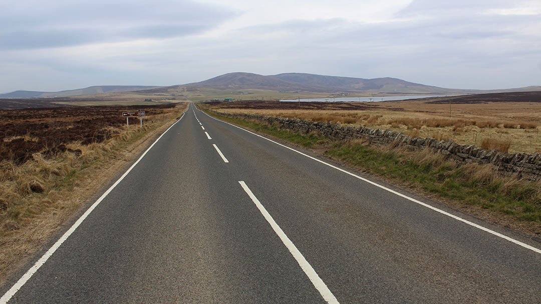 Road from Orphir to Kirkwall in Orkney