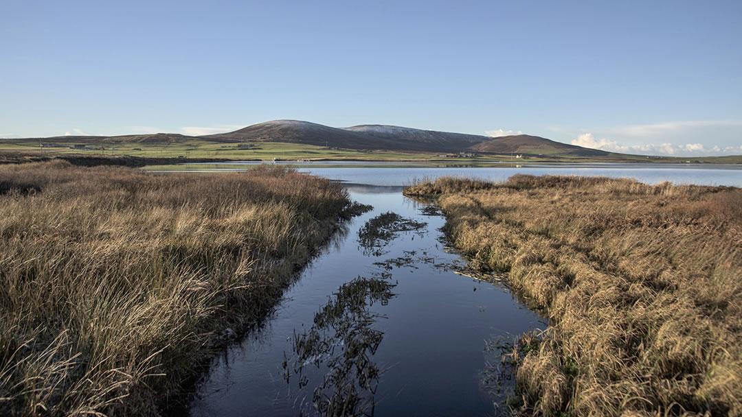 The Loch of Kirbister in Orphir, Orkney