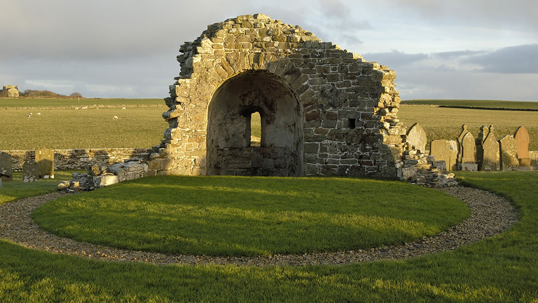 The Orphir Round Kirk in Orkney