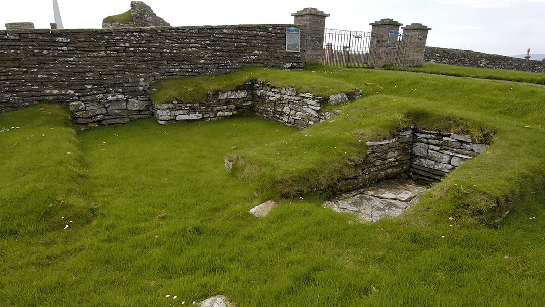 The remains of the Earl's Bu in Orphir, Orkney
