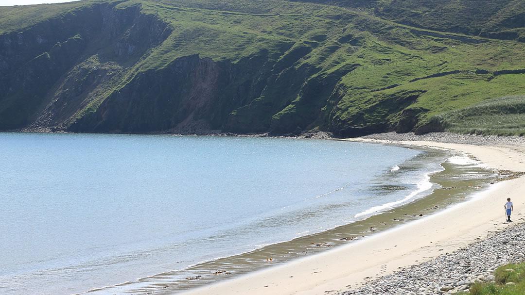 Tresta beach in Fetlar, Shetland